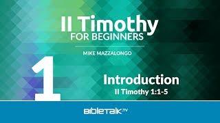 II Timothy Bible Study