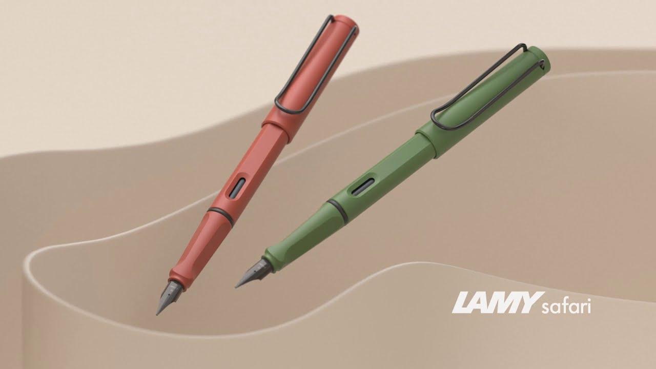 Ручка перьевая LAMY 041 safari, F Оливковый, синие чернила видео