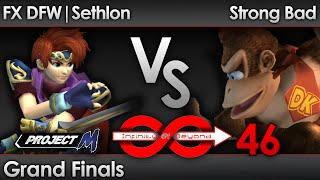 IaB 46 PM - FX DFW | Sethlon (Roy) vs Strong Bad (DK, Wario) - Grand Finals