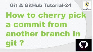 How to cherry pick a commit from another branch in git ? || git cherry-pick interview question