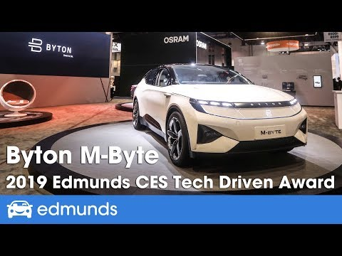 Byton M Byte 2019 Edmunds Ces Tech Driven Awards By Edmunds