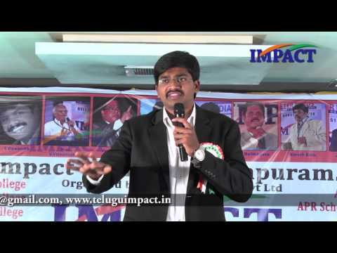 How to turn Intentions into Actions |Sudheer Sandra | TELUGU IMPACT Anantapur 2016