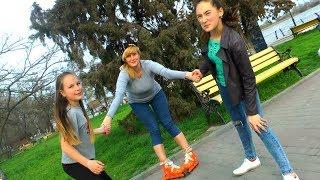 Валентину Ивановну учат кататься на РОЛИКАХ!!!!!