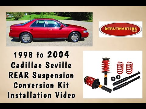 1998 2004 Cadillac Seville Rear Electronic Air Suspension Conversion Installation
