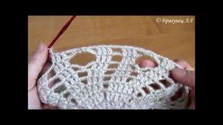 Школа вязания: Как связать ажурный берет ч.5