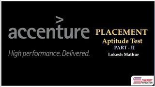 Accenture Recruitment/Placement Paper - Quantitative Aptitude & Logical Reasoning (Part - II)