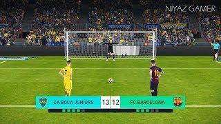 BOCA JUNIORS vs FC BARCELONA | Penalty Shootout | PES 2018 Gameplay PC
