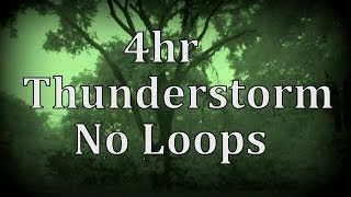 """4hr Thunderstorm with No Loops """"Sleep Sounds"""""""