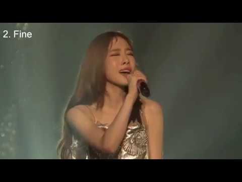 [듣는덕후관점] 태연 가창력 레전드 라이브 TOP10 Taeyeon Best vocal live TOP10