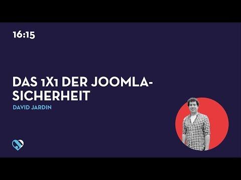 JD19DE - Das 1x1 der Joomla-Sicherheit
