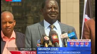 Raila Odinga: sikutamka chochote cha kuchochea