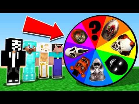 Minecraft Battle: NOOB vs PRO vs GIRL: SCARY ROULETTE CHALLENGE 11 / HORROR Minecraft Animation Фото 2