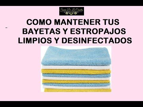 Cómo mantener tus bayetas, esponjas y estropajos limpios y desinfectados (el truco de la abuela)