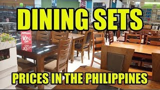 Dining Sets, Prices In The Philippines.