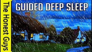 GUIDED SLEEP MEDITATION STORY: The Autumn Cottage (With Gentle Rain, Wind & Fire Sounds)