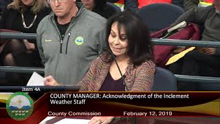 Bernalillo County Commission Administrative Meeting Of February 12, 2019