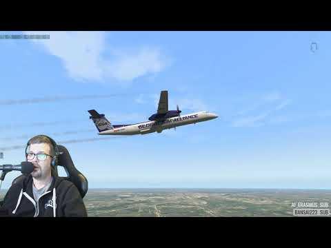 FlyJSim Dash 8 Q400 - игровое видео смотреть онлайн на igrovoetv online
