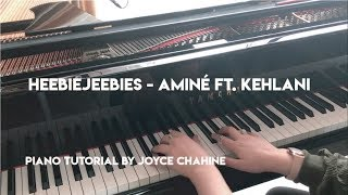 HeebieJeebies Piano 'Riff' Tutorial - Aminé ft. Kehlani