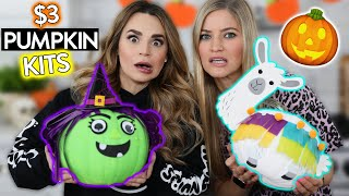 Trying $3 Pumpkin Decorating Kits! w/ iJustine!