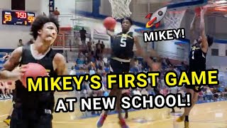 Mikey Williams FIRST GAME At New School! Mikey & SECRET Teammate Get Insane Win Vs Boozer Twins 😱