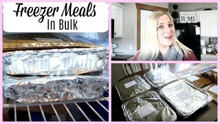 Cook With Me- Freezer meals In Bulk