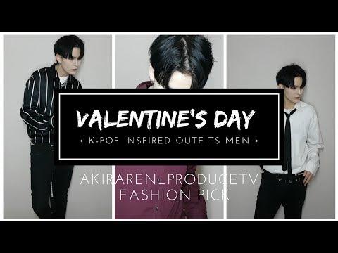 VALENTINE'S DAY K-POP fashion inspired outfits men 👈🧒🏻 // akiraren K fashionTV
