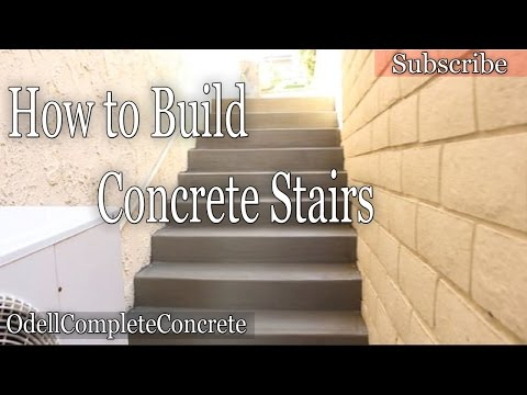 How to Build and Pour Concrete Stairs