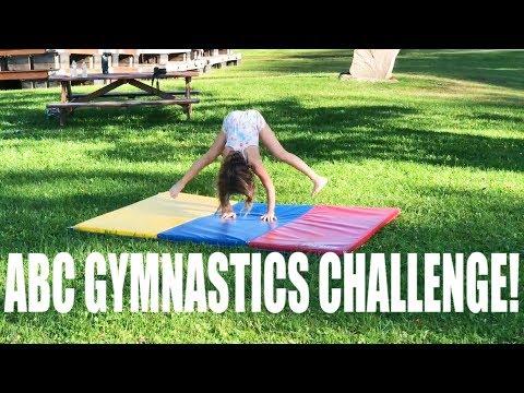ABC GYMNASTICS CHALLENGE (No WIFI, No Cheating W/ Watermelon Smash Punishment!)
