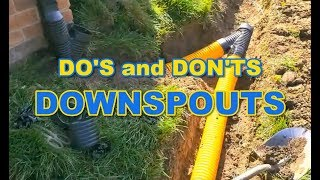 The Do's and Don'ts of Downspouts