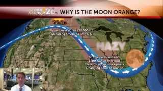 Meteorologist Chris Still explains why the moon is orange in Augusta tonight - 07/01/2015