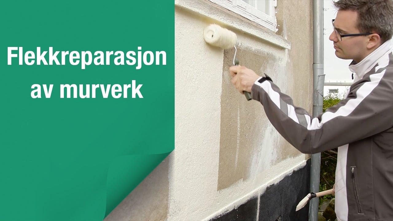 Slik reparerer og maler du murverket ditt