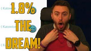 1.8% THE DREAM! (CSGO Jackpot - Skin Gambling)