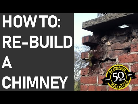 This video shows the process of rebuilding a chimney. We remove your old chimney cap, old bricks, old flashing, and then install new flashing, new bricks, and new chimney cap! If you're looking for more information on chimney renovation and roofing, check out our services on gfsprague.com!