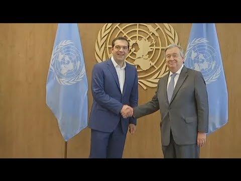 Ο γγ του ΟΗΕ συνεχάρη την Ελλάδα για την αντιμετώπιση της προσφυγικής κρίσης
