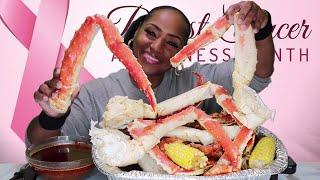 Seafood Boil 14 KING CRAB, Tiger Shrimp⚠ Smacking Noises, Messy Eating