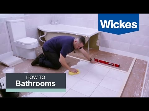 How to Tile a Bathroom Floor with Wickes?