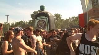 Mayhem Festival 2013 Bristow Va - Job For A Cowboy - Constitutional Masturbation - PIT (LIVE)