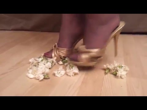 crushing carnations in gold mules _ msice121