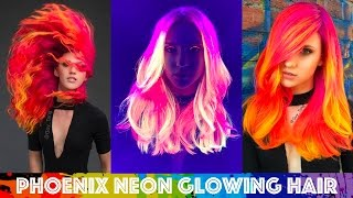 Phoenix Neon Glowing Hair
