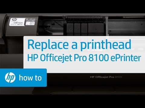 Replacing a Printhead | HP Officejet Pro 8100 ePrinter (N811a) | HP