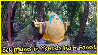 Sculptures in Yanoda Rain Forest. Hainan, China Review 2020. Travel to China 2020