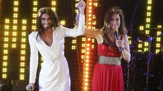 Anna Vissi feat. Conchita Wurst - Everything, Jackie O' Beach, Mykonos (26/07/2014) [fannatics.gr]
