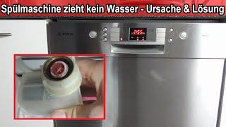 Geschirrspüler zieht kein Wasser – Spülmaschine bekommt kein Wasser brummt & geht aus Ursachen Hilfe