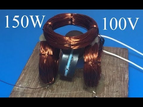 100V 150W electricity generator from 3.7V , science project 2018