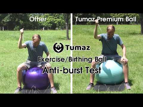 Anti-burst Test! Tumaz Exercise/Birthing Ball