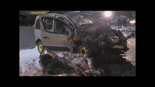 У Гатному під час лобового зіткнення з вантажівкою загинув пасажир легковика