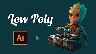 Low Poly: Грут/Cтражи Галактики2