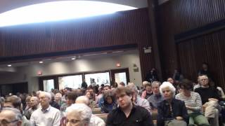 Big Crowd at Temple Rodef Shalom for Candidates Forum (5/21/17)