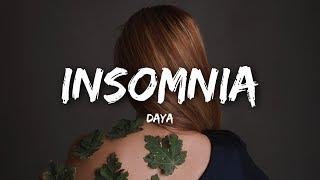 Daya - Insomnia (Lyrics)