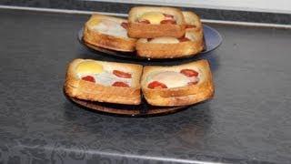 Смотреть онлайн Рецепт приготовления горячего бутерброда в духовке